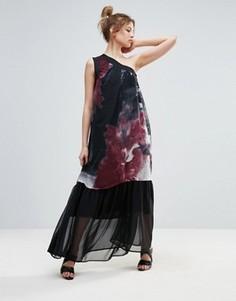 Платье макси на одно плечо Religion - Черный