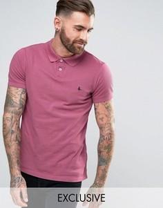 Футболка-поло ягодного цвета с фазаном Jack Wills Aldgrove - Розовый