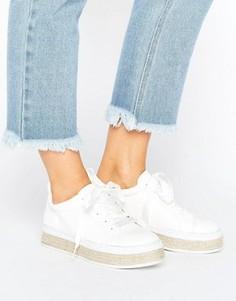 Кроссовки-эспадрильи на шнуровке Truffle - Белый
