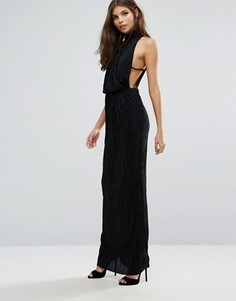 Плиссированное платье макси Love - Черный