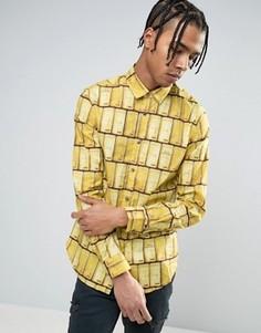 Рубашка с золотыми слитками Love Moschino - Золотой