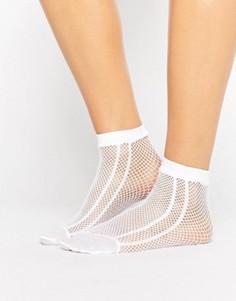 Белые сетчатые носки с полоской по бокам ASOS - Белый