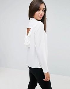 Блузка с оборкой на спине ASOS - Белый