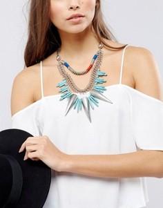 Ожерелье-чокер с бусинами и шипами Glamorous - Мульти