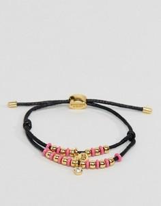 Многослойный браслет-шнурок с бусинами Juicy Couture - Черный