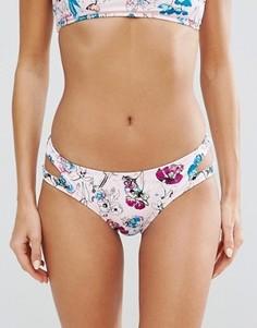 Трусы бикини с вырезами и цветочным принтом Bikini Lab - Мульти