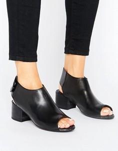 Кожаные сандалии на среднем каблуке H by Hudson - Черный