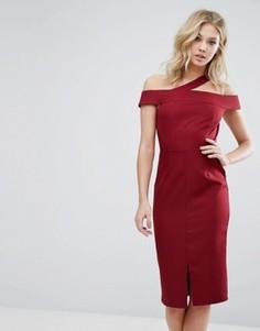 Платье миди на одно плечо Girls On Film - Красный