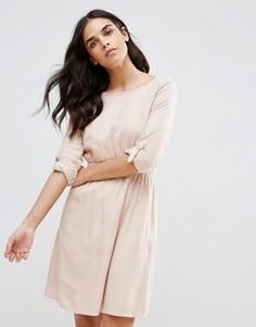 Короткое приталенное платье Vila - Розовый