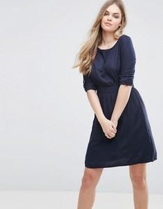 Короткое приталенное платье Vila - Синий