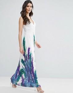 Платье макси с цветами Jasmine - Белый