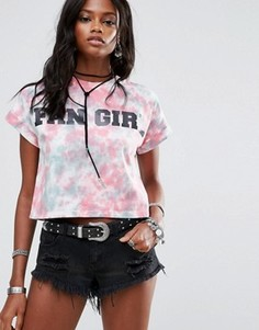 Укороченная футболка Fan Girl Missguided - Мульти