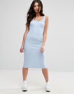 Платье миди в рубчик без рукавов Brave Soul - Синий