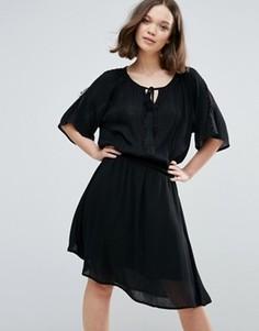 Платье с рукавами кимоно Ichi - Черный