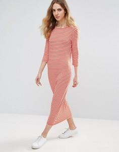 Трикотажное платье с рукавами 3/4 Ichi - Красный