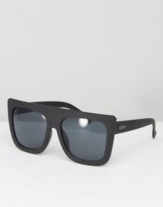 Солнцезащитные очки с плоским верхом Quay Australia Café Racer Shield - Черный