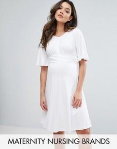 Свободное платье с завязкой Gebe Maternity Nursing - Белый