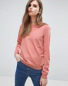 Розовый классический джемпер из трикотажа Y.A.S - Розовый