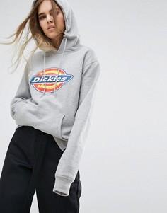 Oversize-худи с логотипом Dickies - Серый