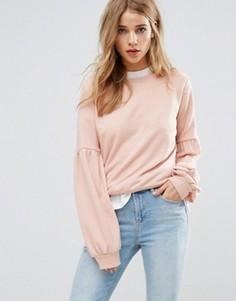 Свитшот с пышными рукавами New Look - Розовый