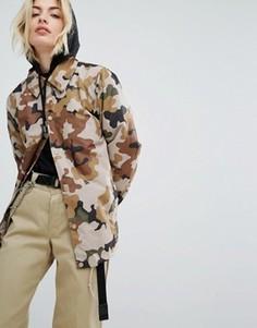 Спортивная куртка с камуфляжным принтом Dickies - Коричневый