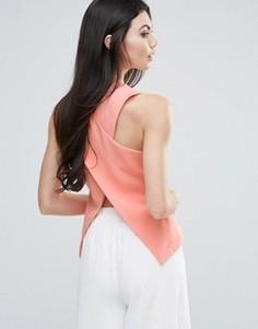 Топ с перекрестным дизайном спереди Lavish Alice - Розовый