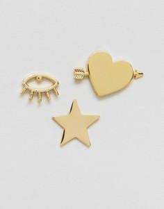 Комплект крупных значков Orelia - Золотой