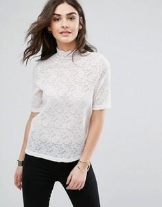 Свободная футболка Y.A.S Lida - Кремовый