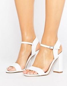 Босоножки на блочном каблуке New Look - Белый