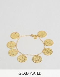 Позолоченный браслет с монетками Gorjana - Золотой