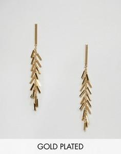 Позолоченные серьги с бахромой Gorjana - Золотой