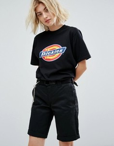 Футболка бойфренда с логотипом Dickies - Черный