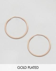 Серьги-кольца цвета розового золота Pilgrim - Золотой