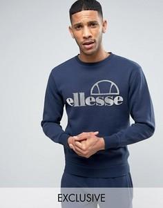 Свитшот с крупным логотипом Ellesse - Темно-синий