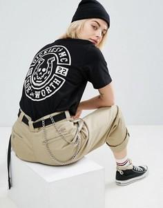 Oversize-футболка бойфренда с черепом на спине Dickies - Черный