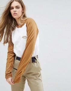 Oversize-футболка с рукавами реглан и логотипом на груди Dickies - Коричневый