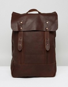 Кожаный рюкзак Lyle & Scott - Коричневый