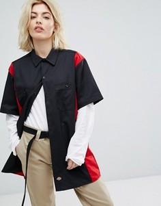Рабочая рубашка в стиле ретро колор блок Dickies - Черный