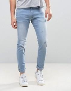Светлые джинсы суперскинни Burton Menswear - Синий