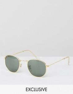 Золотистые круглые солнцезащитные очки Reclaimed Vintage - Золотой