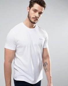 Однотонная футболка Ben Sherman - Белый