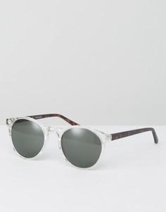 Круглые солнцезащитные очки в прозрачной оправе AJ Morgan - Прозрачный