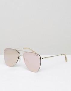 Солнцезащитные очки-авиаторы цвета розового золота Le Specs - Золотой