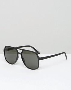 Черные солнцезащитные очки-авиаторы Le Specs - Черный