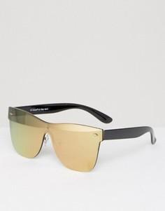 Золотистые солнцезащитные очки с плоским верхом AJ Morgan - Золотой