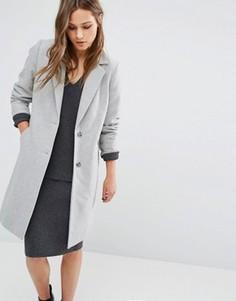 Пальто в строгом стиле New Look - Серый