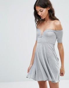 Приталенное платье Twin Sister - Серый