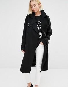 Шерстяное пальто Cheap Monday - Черный