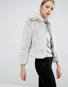 Зауженная куртка из искусственного меха Cheap Monday - Серый