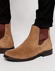 Замшевые ботинки челси Jack & Jones - Коричневый